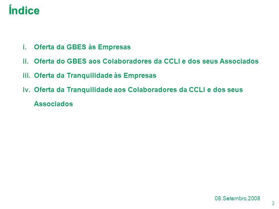 Índice Oferta da GBES às Empresas