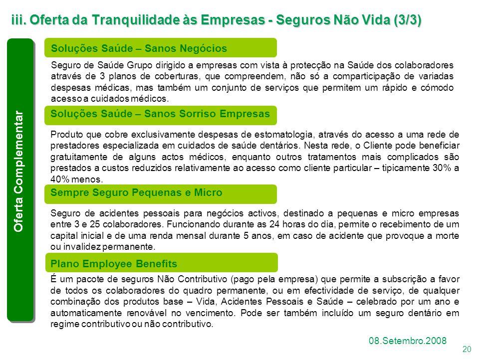iii. Oferta da Tranquilidade às Empresas - Seguros Não Vida (3/3)