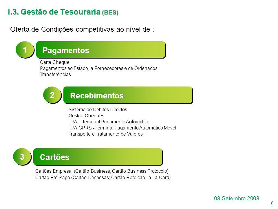 i.3. Gestão de Tesouraria (BES)
