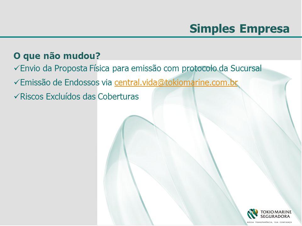 Simples Empresa O que não mudou