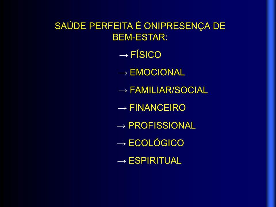 SAÚDE PERFEITA É ONIPRESENÇA DE BEM-ESTAR: