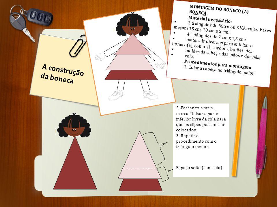A construção da boneca MONTAGEM DO BONECO (A) BONECA