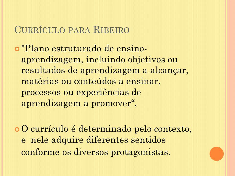 Currículo para Ribeiro