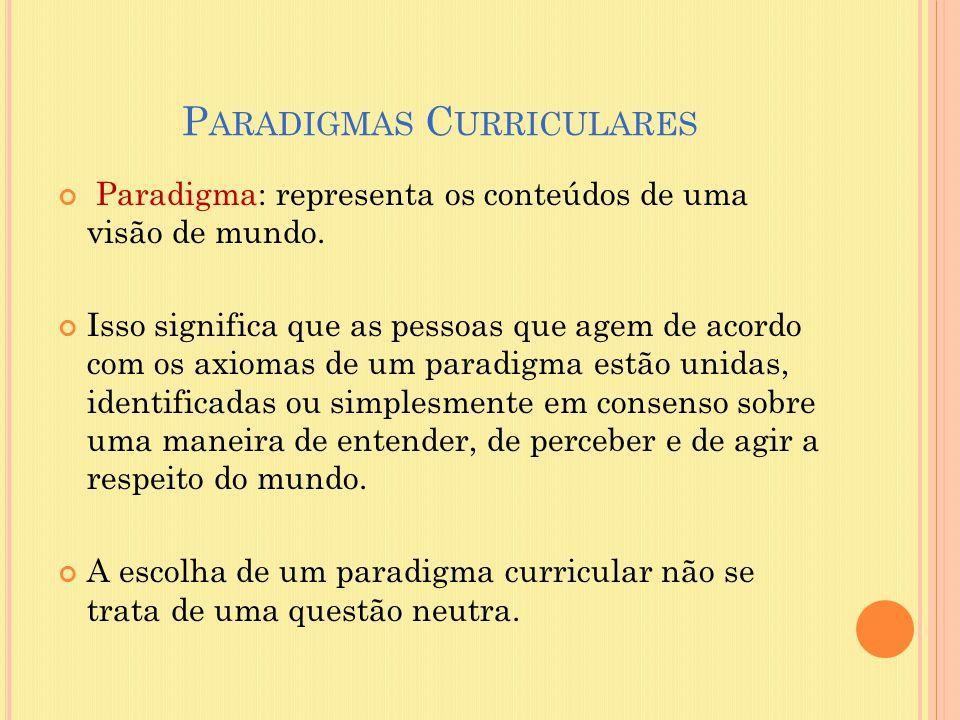 Paradigmas Curriculares