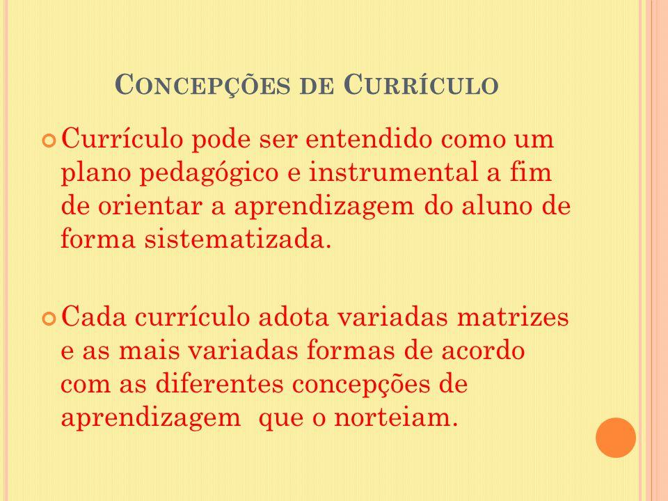 Concepções de Currículo
