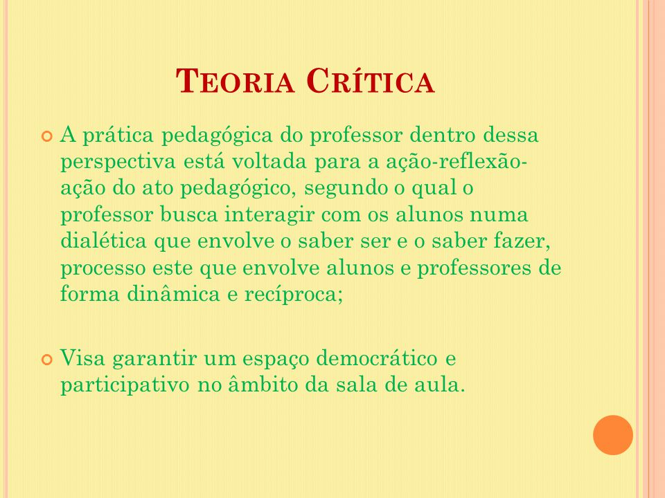 Teoria Crítica