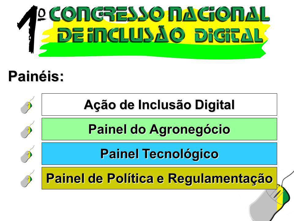 Ação de Inclusão Digital Painel de Política e Regulamentação