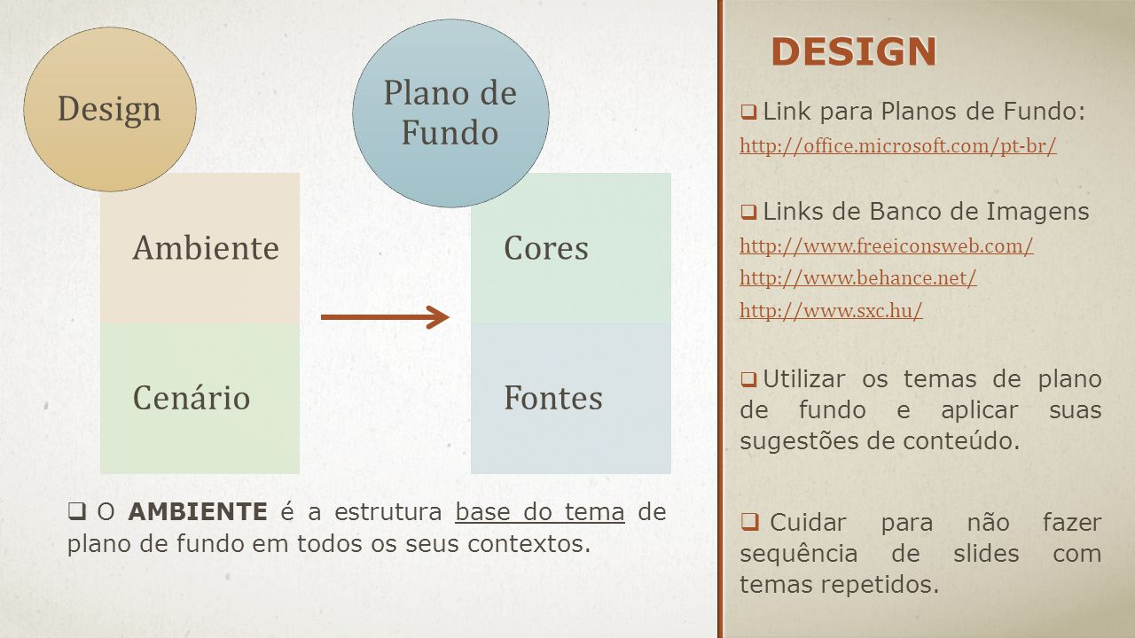 Design Plano de Fundo Design Ambiente Cenário Cores Fontes
