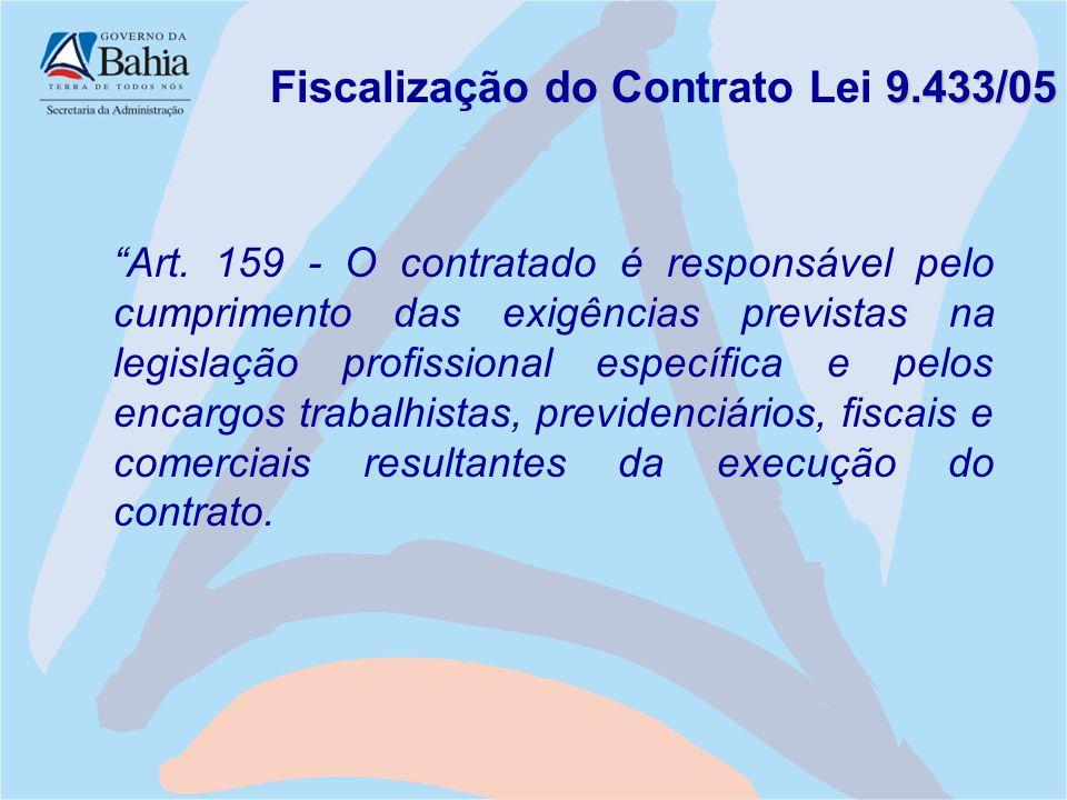 Fiscalização do Contrato Lei 9.433/05