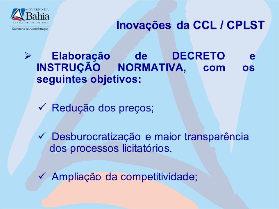 Inovações da CCL / CPLST