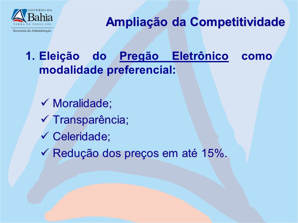 Ampliação da Competitividade