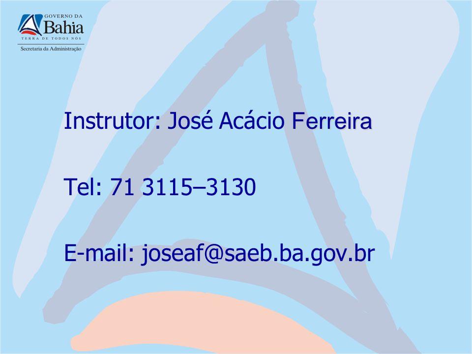 Instrutor: José Acácio Ferreira