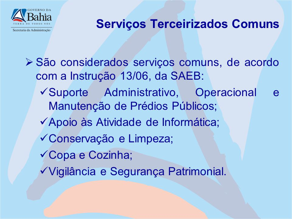 Serviços Terceirizados Comuns