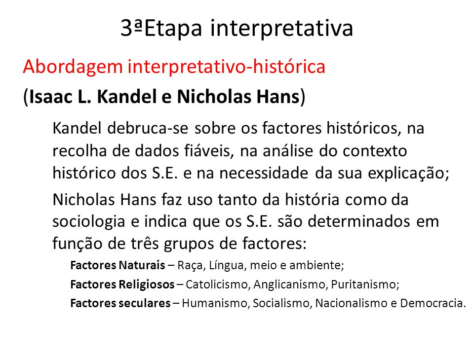3ªEtapa interpretativa