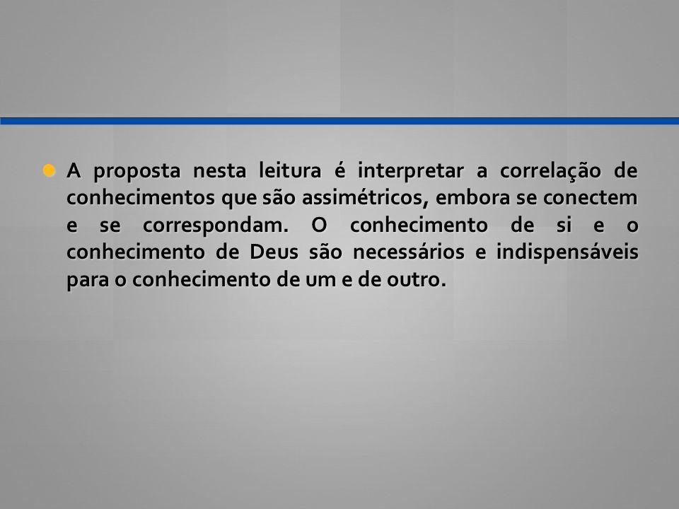 A proposta nesta leitura é interpretar a correlação de conhecimentos que são assimétricos, embora se conectem e se correspondam.