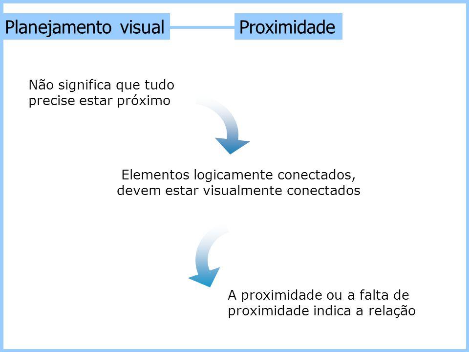 Planejamento visual Proximidade