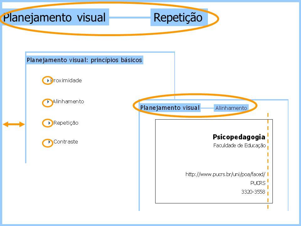 Planejamento visual Repetição