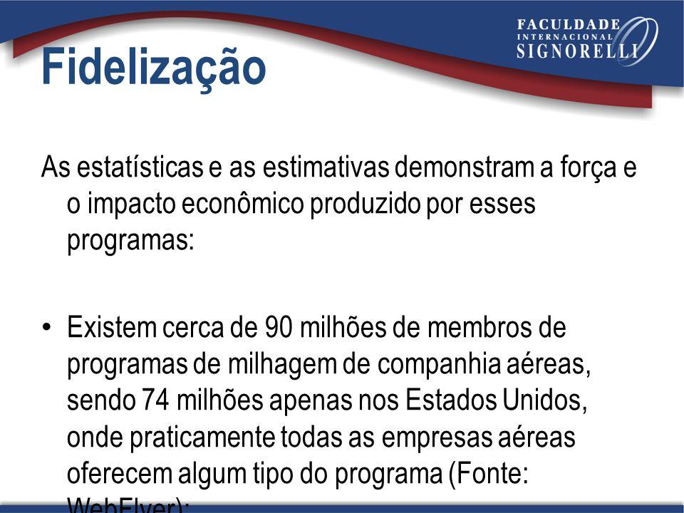 Fidelização As estatísticas e as estimativas demonstram a força e o impacto econômico produzido por esses programas: