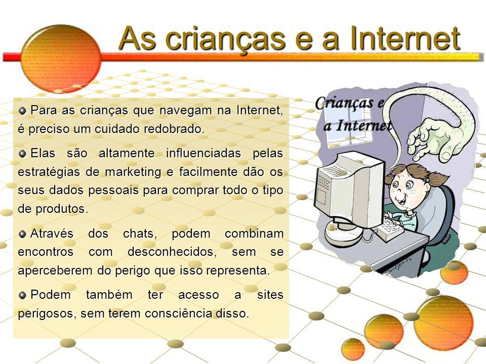 As crianças e a Internet