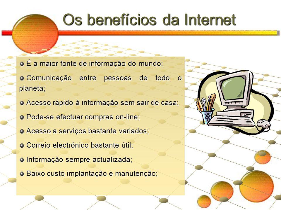 Os benefícios da Internet
