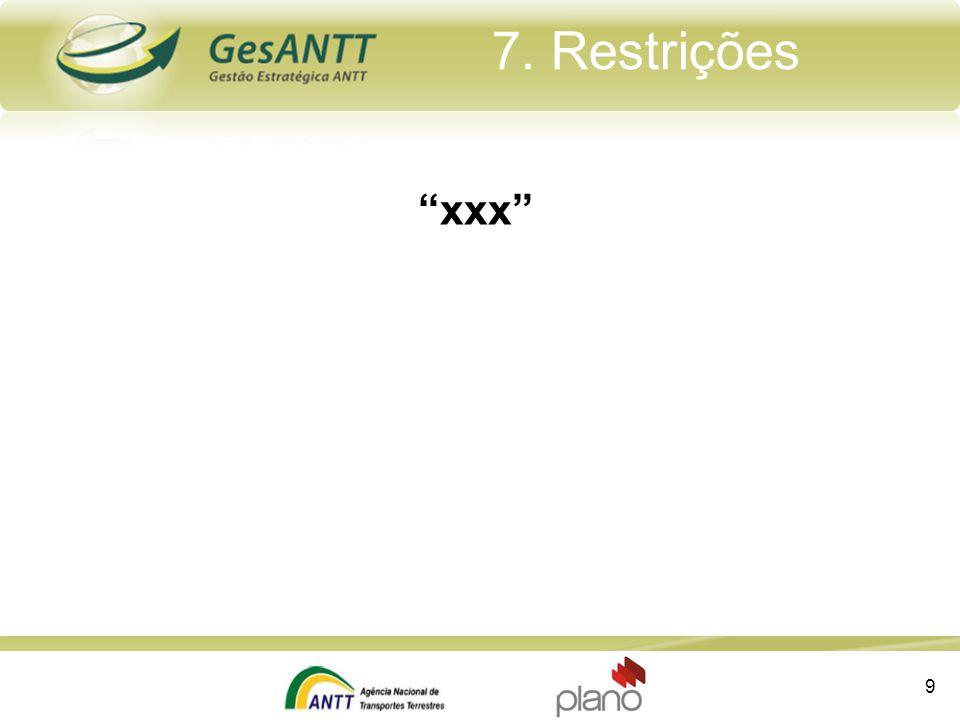 7. Restrições xxx