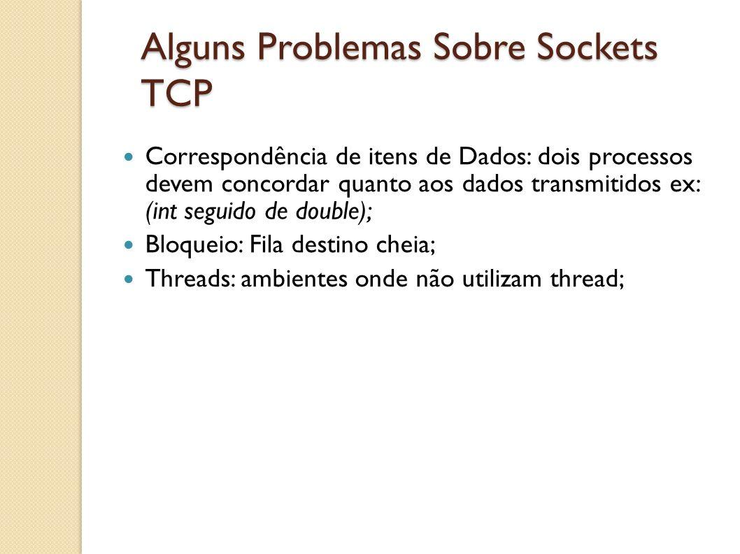 Alguns Problemas Sobre Sockets TCP