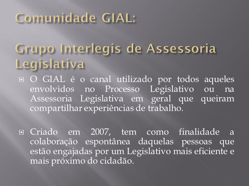 Comunidade GIAL: Grupo Interlegis de Assessoria Legislativa