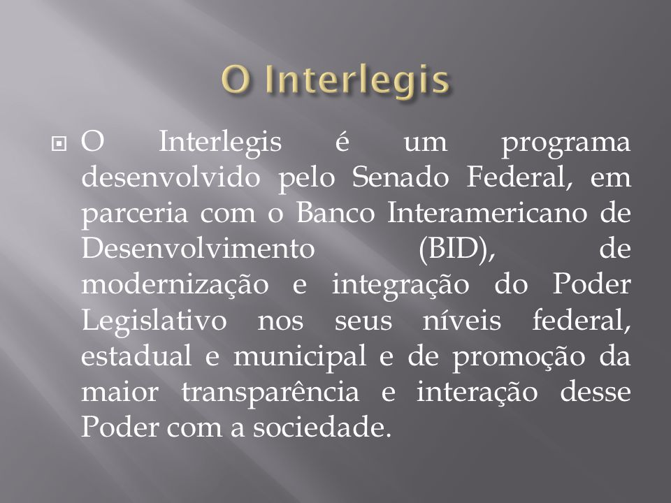 O Interlegis
