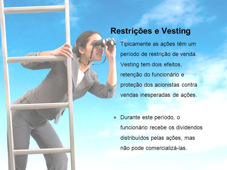 Restrições e Vesting