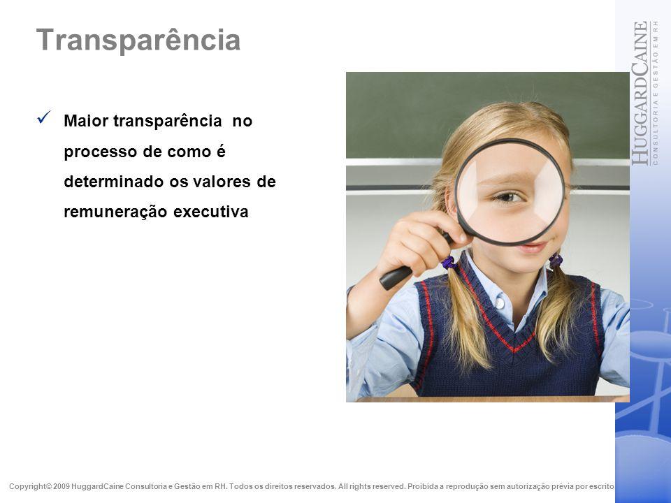 Transparência Maior transparência no processo de como é determinado os valores de remuneração executiva.