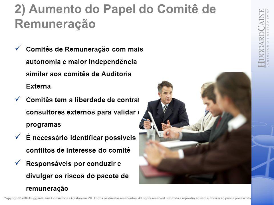 2) Aumento do Papel do Comitê de Remuneração