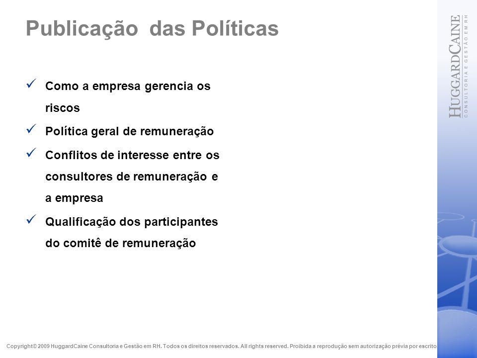 Publicação das Políticas