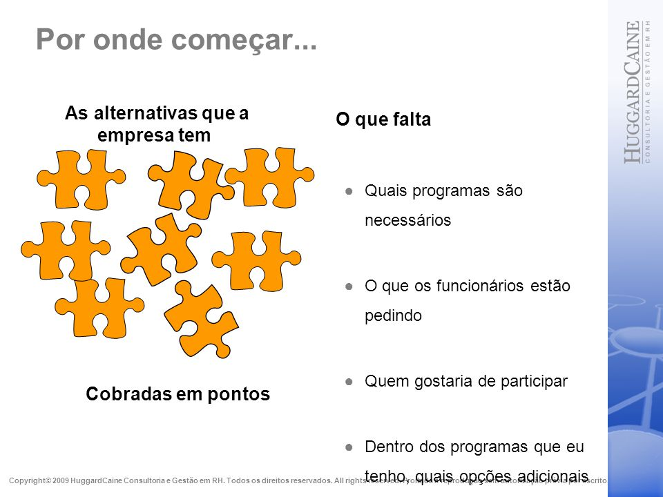 As alternativas que a empresa tem