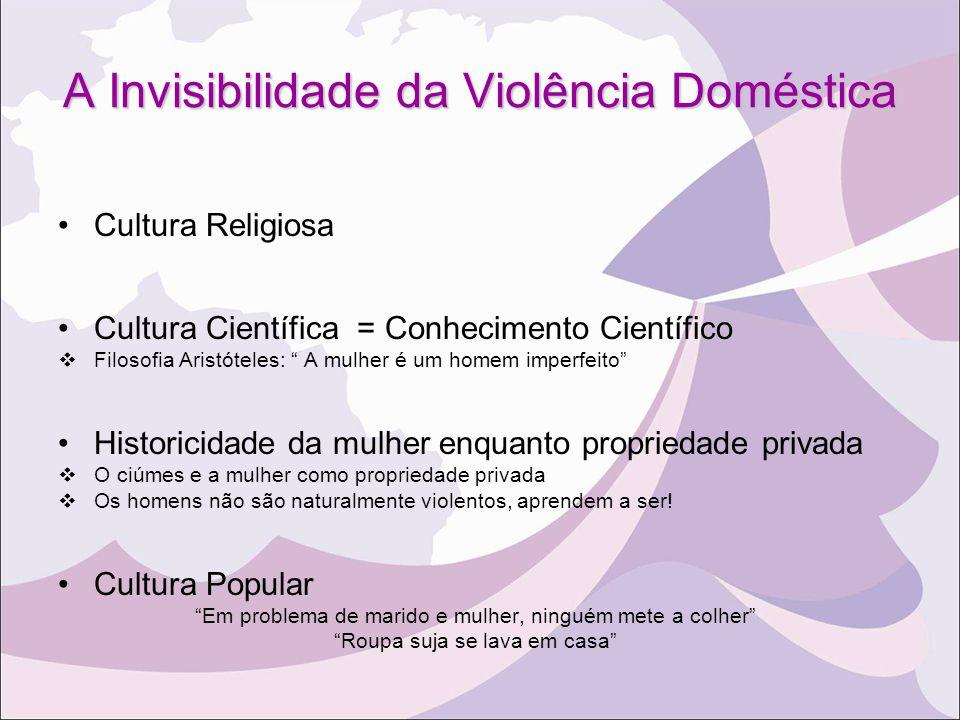 A Invisibilidade da Violência Doméstica