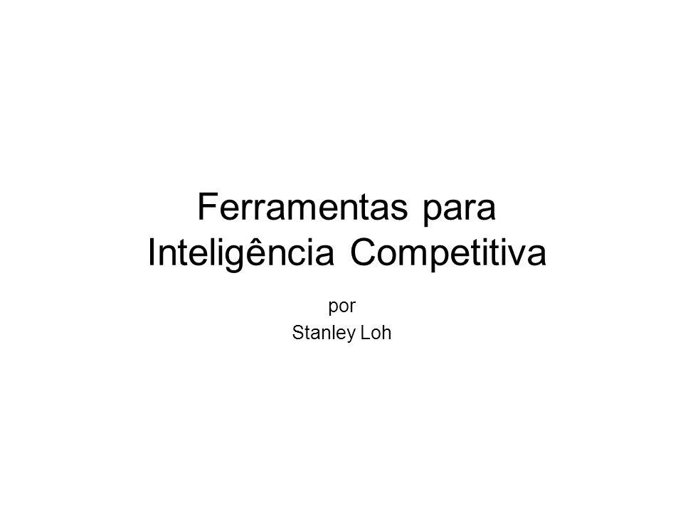 Ferramentas para Inteligência Competitiva