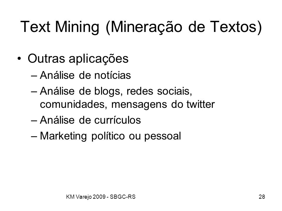 Text Mining (Mineração de Textos)