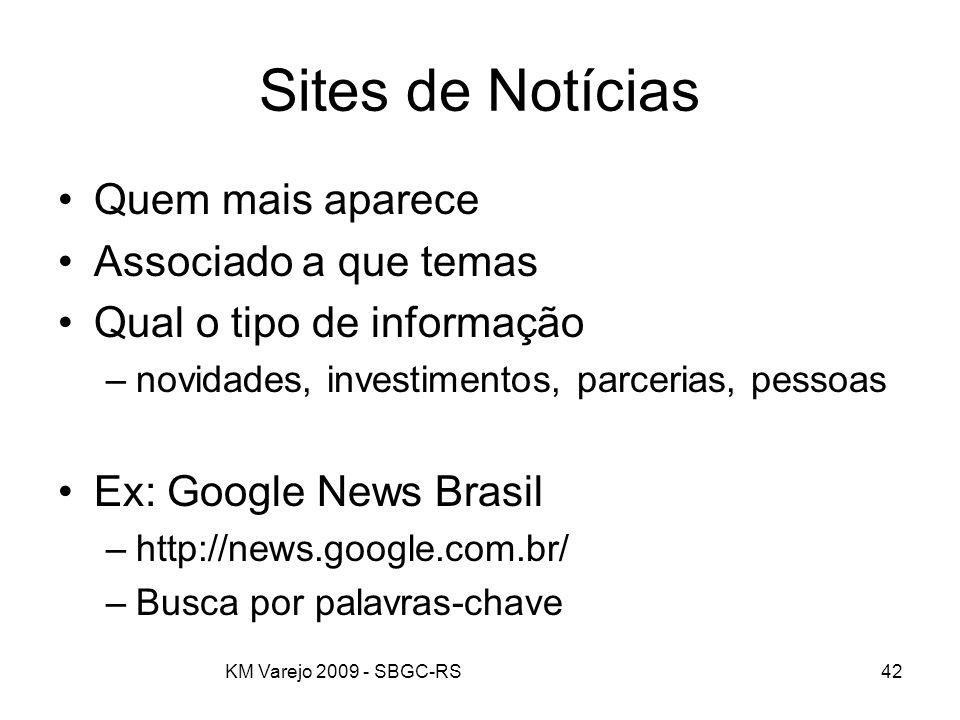 Sites de Notícias Quem mais aparece Associado a que temas