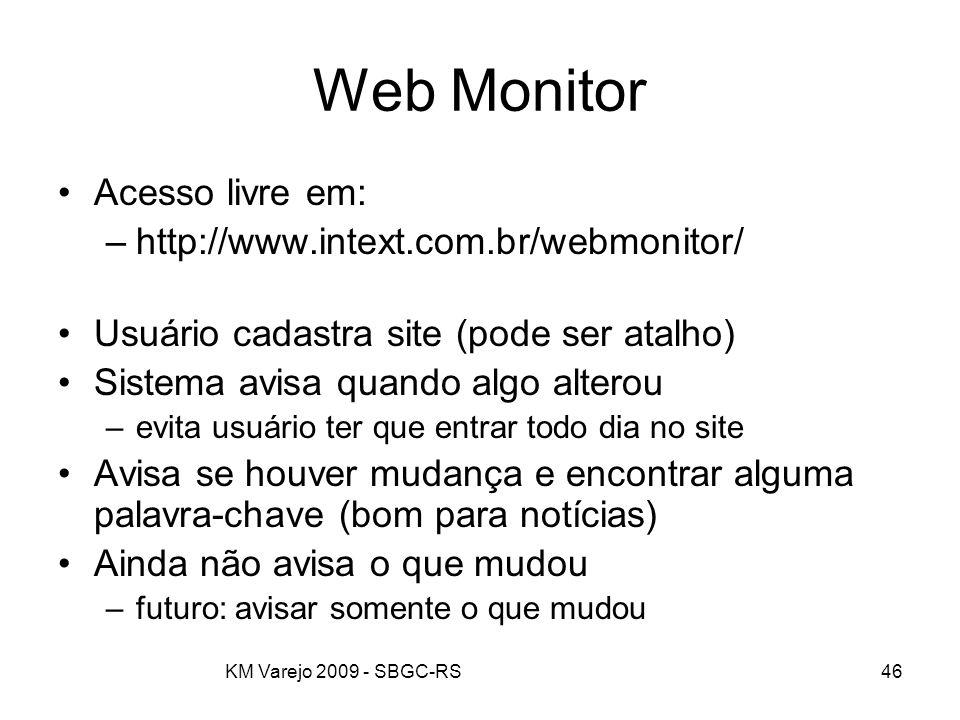 Web Monitor Acesso livre em: http://www.intext.com.br/webmonitor/