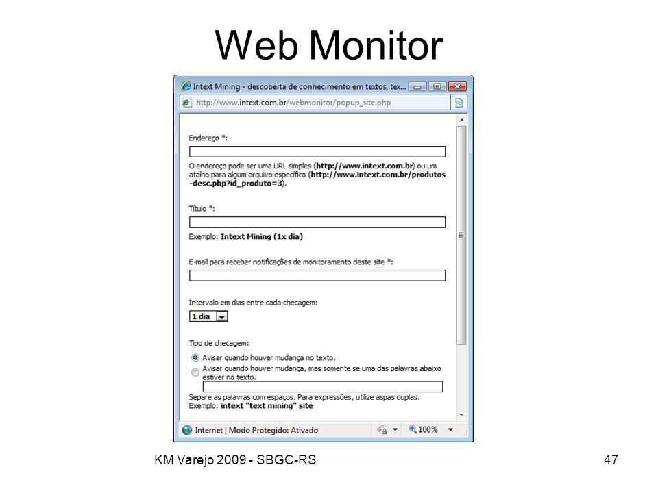 Web Monitor KM Varejo 2009 - SBGC-RS