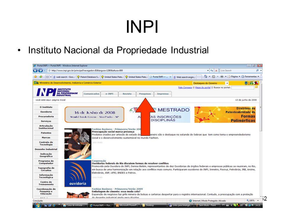 INPI Instituto Nacional da Propriedade Industrial