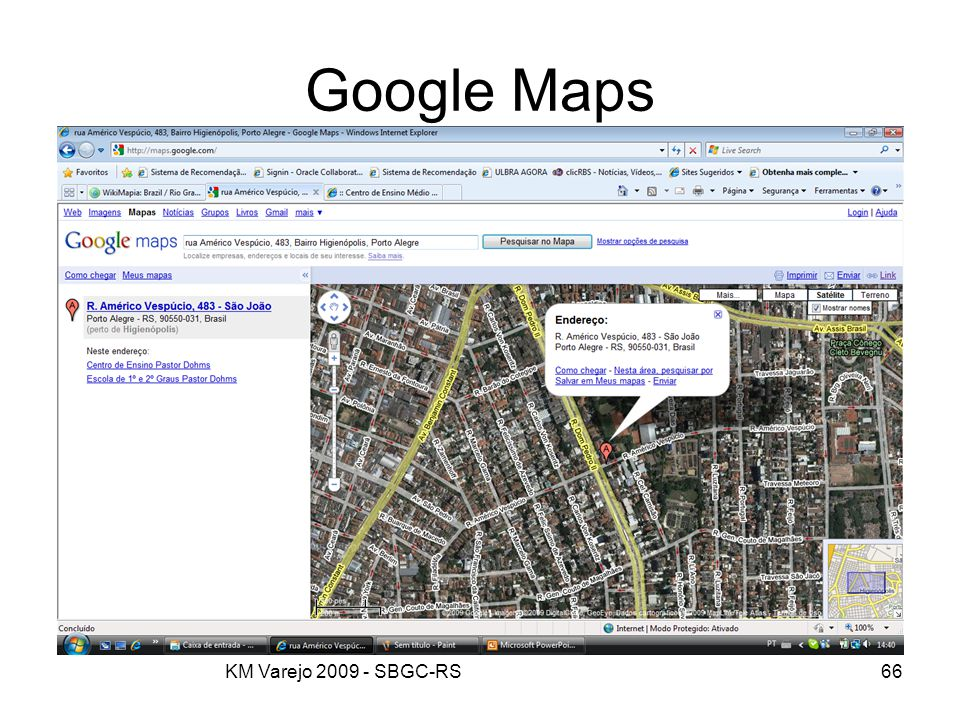 Google Maps KM Varejo 2009 - SBGC-RS