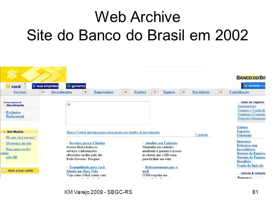 Web Archive Site do Banco do Brasil em 2002