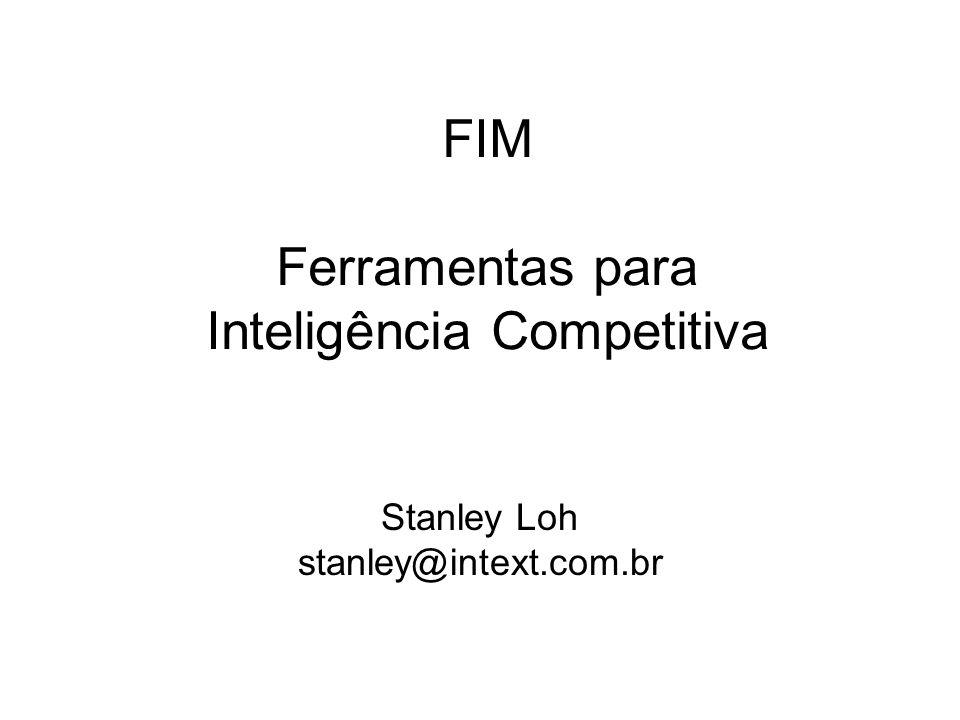 FIM Ferramentas para Inteligência Competitiva