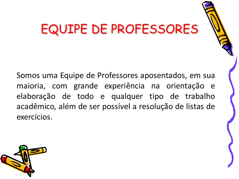 EQUIPE DE PROFESSORES
