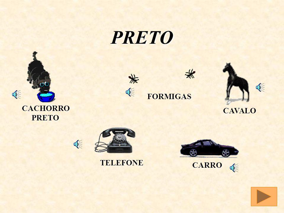PRETO FORMIGAS CACHORRO PRETO CAVALO TELEFONE CARRO