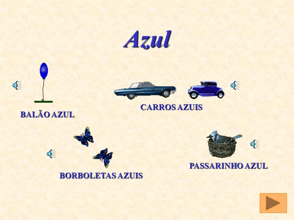 Azul CARROS AZUIS BALÃO AZUL PASSARINHO AZUL BORBOLETAS AZUIS