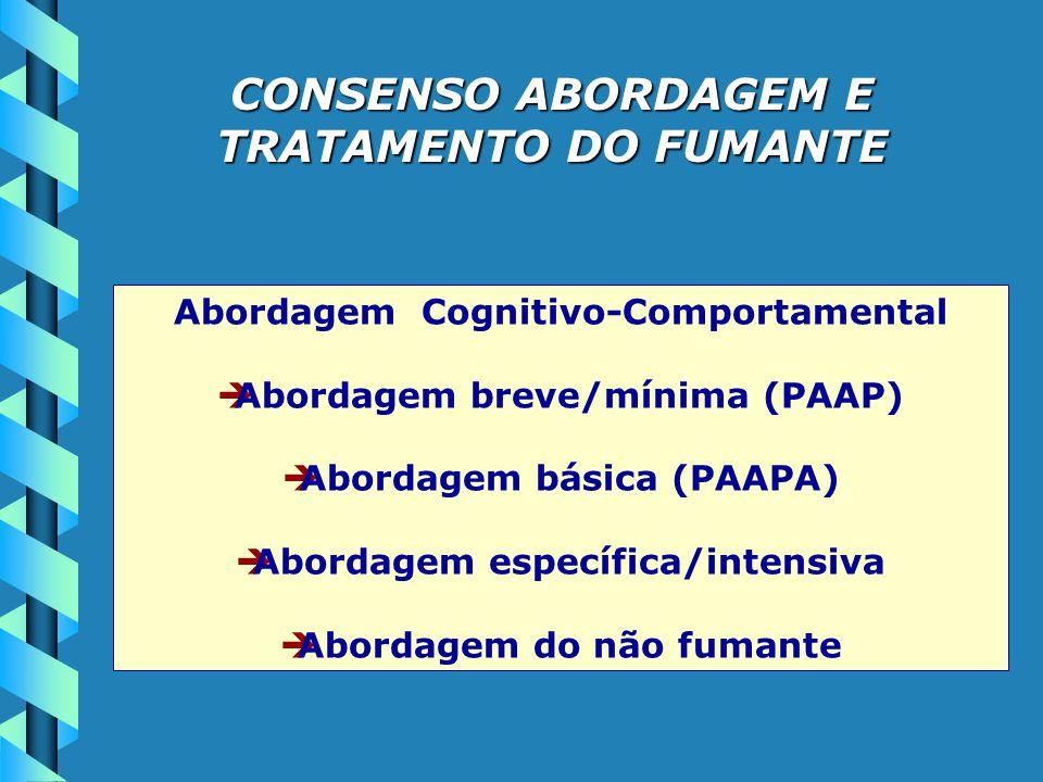 CONSENSO ABORDAGEM E TRATAMENTO DO FUMANTE