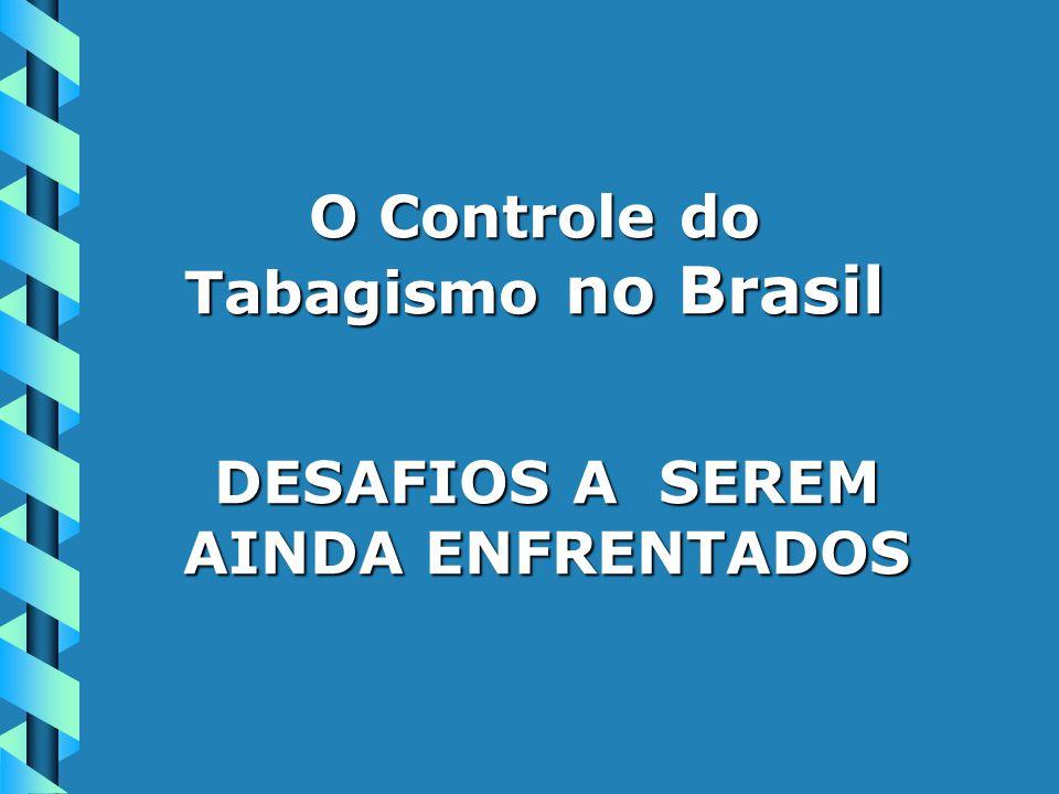 O Controle do Tabagismo no Brasil DESAFIOS A SEREM AINDA ENFRENTADOS