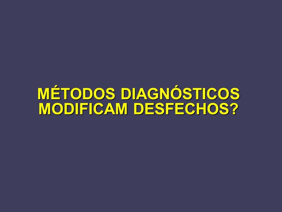 MÉTODOS DIAGNÓSTICOS MODIFICAM DESFECHOS