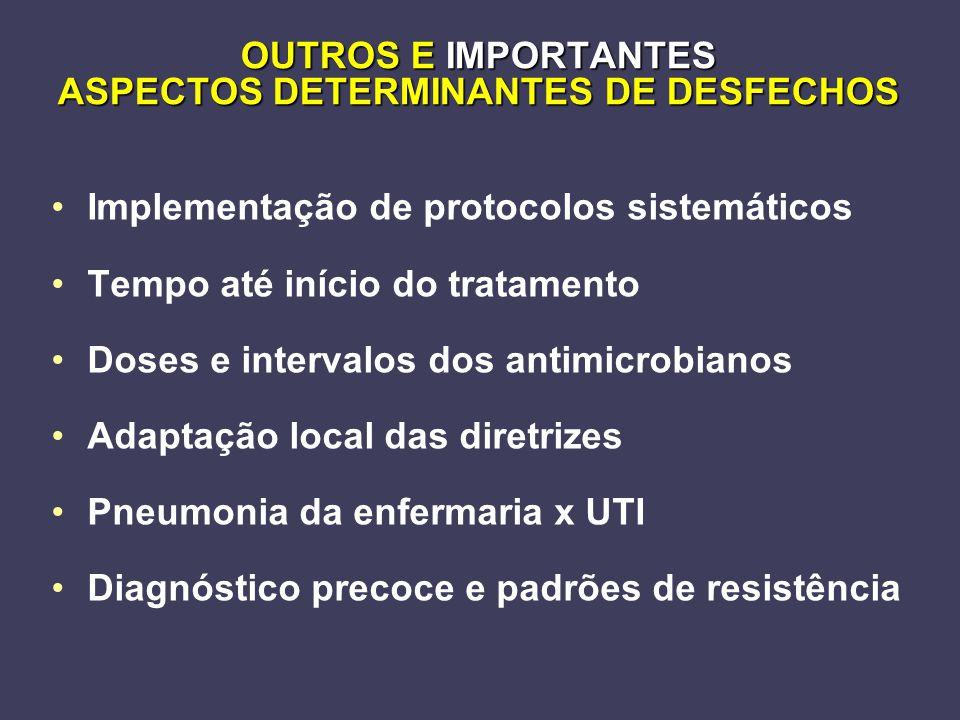 OUTROS E IMPORTANTES ASPECTOS DETERMINANTES DE DESFECHOS